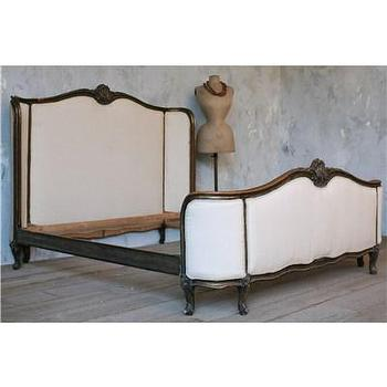 Beds/Headboards - One of a Kind Vintage Queen Bed Dark Distressed - vintage, bed