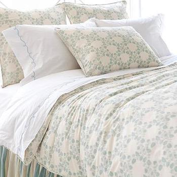 Bedding - Pine Cone Hill Trellis Damask Blue Sham - pine cone hill, trellis, damask, shams