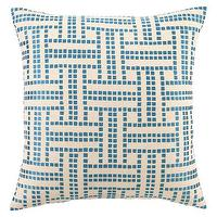 Pillows - DL Rhein Basket Weave Peacock Embroidered Pillow - dl, rhein, basket weave, peacock, pillow