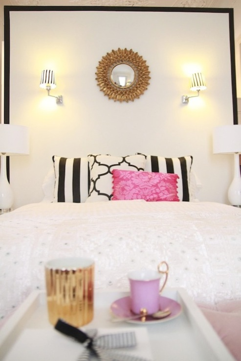 Black And White Headboard Contemporary Bedroom Ana Antunes
