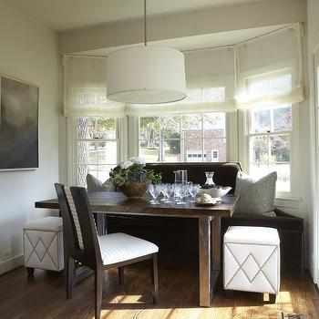 Velvet Dining Banquette, Transitional, dining room, Dana Wolter Interiors