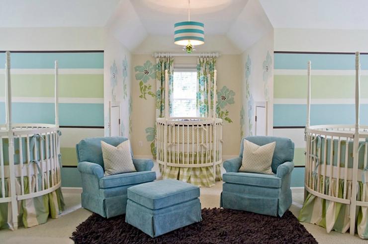Striped Nursery - Contemporary - nursery - Lucy and Company