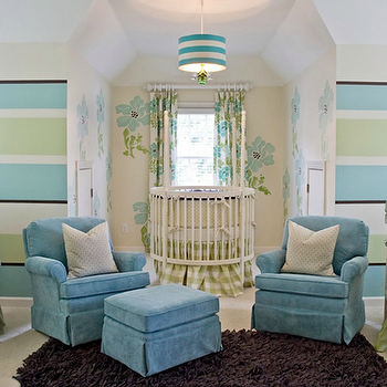 Striped Nursery, Contemporary, nursery, Lucy and Company