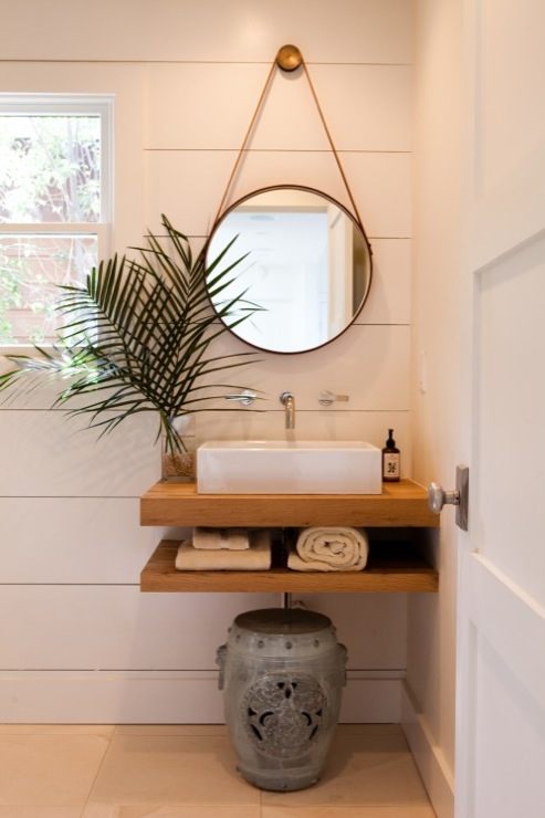 Floating Sink - Cottage - bathroom - Pacific Family Homes