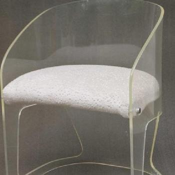 Seating - Mid Century 70's Vladimir Kagan Lucite Chair by ccduexvie on Etsy - lucite, chair
