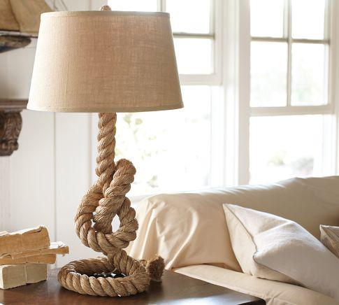 Lighting - Rope Table Lamp | Pottery Barn - rope, table, lamp