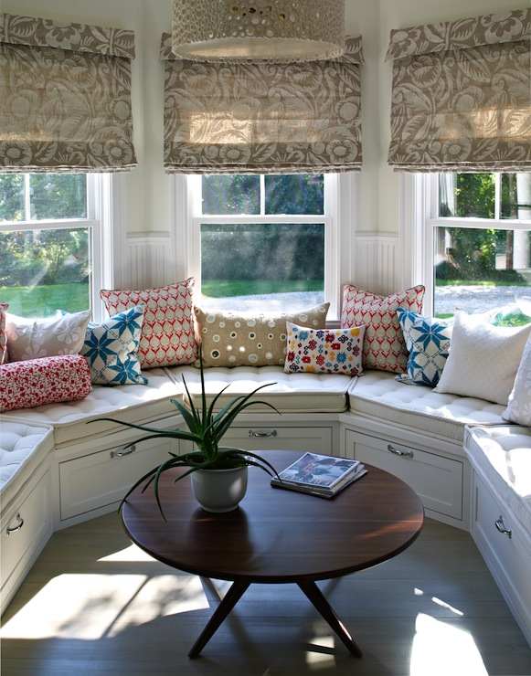 Curved Window Seat Transitional Deck Patio Bella