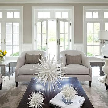 Beige Walls, Contemporary, living room, Benjamin Moore Shale, Martha O'Hara Interiors