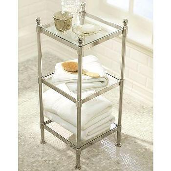 Bath - Metal Etagere | Pottery Barn - metal, etagere