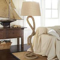 Lighting - Rope Floor Lamp | Pottery Barn - rope, floor lamp