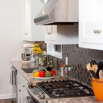 Herringbone Backsplash, Eclectic, kitchen, Vintage Scout Interiors