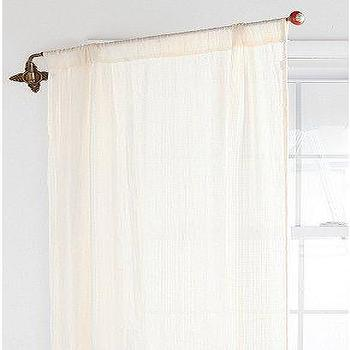 Window Treatments - UrbanOutfitters.com > Brass CrissCross Swing Curtain Rod - brass, criss cross, swing, curtain rod