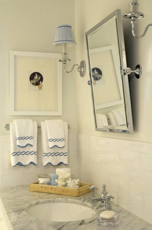 Gingham Sconce Shades Country bathroom Elizabeth