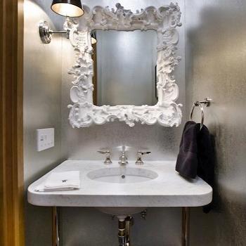 Baroque mirror contemporary bedroom artistic designs for Baroque bathroom mirror