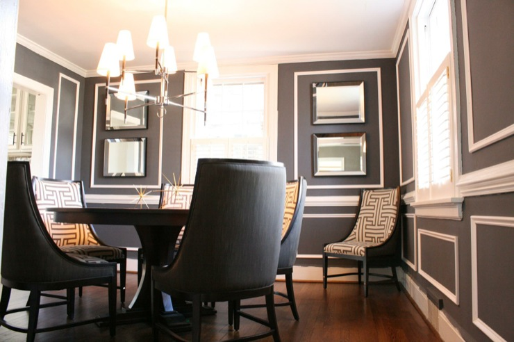 charcoal gray paint color contemporary dining room. Black Bedroom Furniture Sets. Home Design Ideas