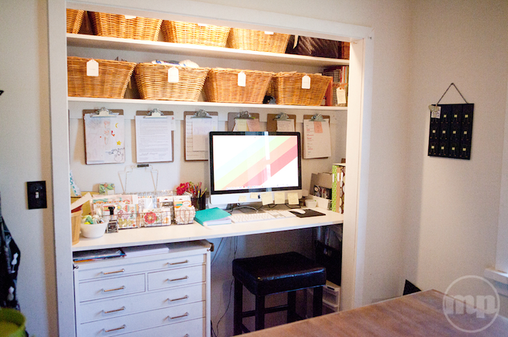 Closet Office, Vintage, den/library/office, Marcy Penner