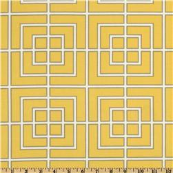 Fabrics - Dwell Studio Indoor/Outdoor Fretscene Canary - Discount Designer Fabric - Fabric.com - dwell studio, fretscene, canary, fabric
