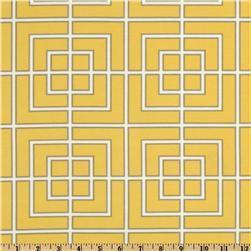 Fabrics - Dwell Studio Indoor/Outdoor Fretscene Canary - Discount Designer Fabric - Fabric.com - dwell studio, fretscene, canary, fabric