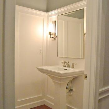 Grey Paint Color, Transitional, bathroom, Ralph Lauren Pale Gray, Sixteen Fourteen