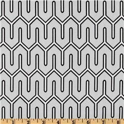 Fabrics - Dwell Studio Maze Work Dove - Discount Designer Fabric - Fabric.com - dwell studio, maze, fabric