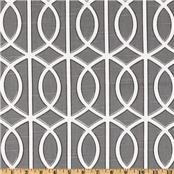 Fabrics - Dwell Studio Bella Porte Charcoal - Discount Designer Fabric - Fabric.com - dwell studio, bella porte, charcoal, fabric