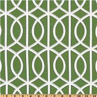Fabrics - Dwell Studio Bella Porte Watercress - Discount Designer Fabric - Fabric.com - dwell studio, bella porte, watercress, fabric