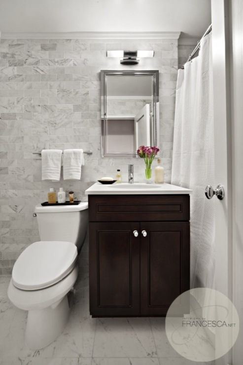 Espresso bathroom vanity transitional bathroom for Espresso bathroom ideas