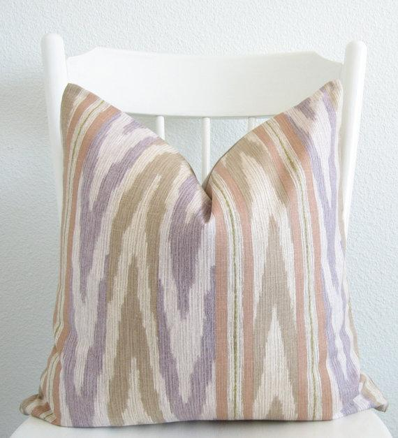 Pillows - Decorative pillow cover Throw pillow 20x20 by chicdecorpillows - purple, taupe, ikat, pillow