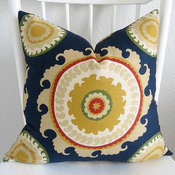 Pillows - Decorative pillow cover Throw pillow Suzani by chicdecorpillows - suzani, blue, pillow