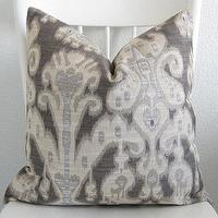 Pillows - Decorative pillow cover Throw pillow Ikat by chicdecorpillows - gray, ikat, pillow