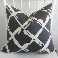 Pillows - Decorative pillow cover Throw pillow Lattice by chicdecorpillows - dark, gray, lattice, pillow