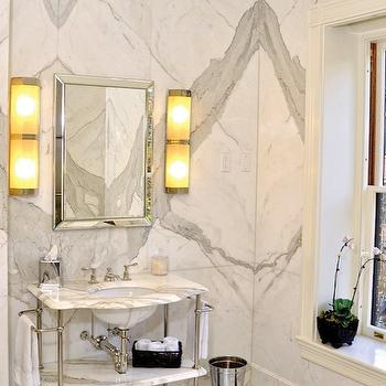 Calcutta Marble, Contemporary, bathroom