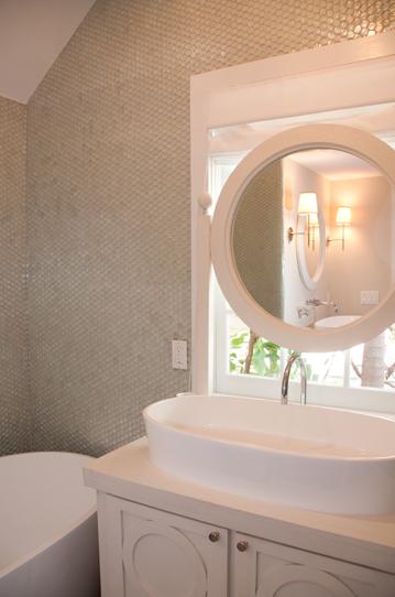 Gray Penny Tiles Contemporary Bathroom Blair Gordon