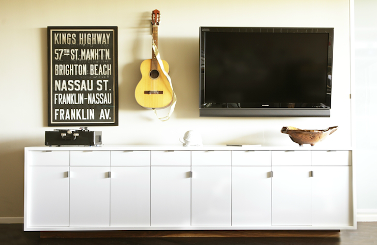 white media cabinet eclectic living room form
