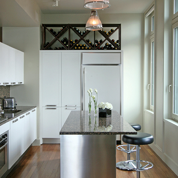 Built In Wine Rack Traditional Kitchen