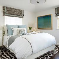 Gray And Yellow Curtains Contemporary Bedroom