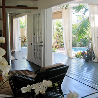 Blair Gordon Design - decks/patios: outdoor, drapes, bamboo, roman shades, pool,  Amazing deck/patio with pool, outdoor curtains and bamboo roman