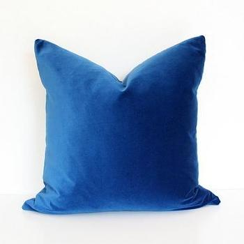 Pillows - Blue Velvet - blue, velvet, pillow
