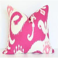 Pillows - Magenta Ikat - magenta, ikat, pillow