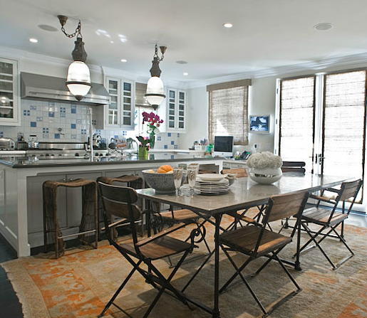 Foyer Colors Justin Timberlake : Oraneg rug eclectic kitchen estee stanley