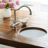 BHG - kitchens - butcher block, countertop, small, sink, kitchen island,  Sweet butcher block island countertop with small round kitchen sink