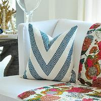 Pillows - 20sq Schumacher Nebaha Embroidery pillow cover in by woodyliana - schumacher, nebaha, pillow, sky, greek key