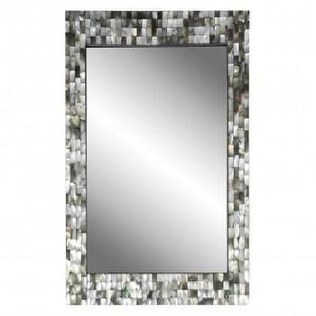 Mirrors - Black Mother Of Pearl Mirror - Mirrors & Wall D�?©cor - Accessories | Jayson Home - black, mother of pearl, mirror