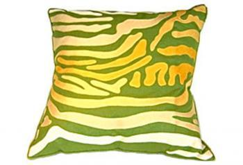Pillows - Green Zebra Pillow | Pieces - green, zebra, pillow