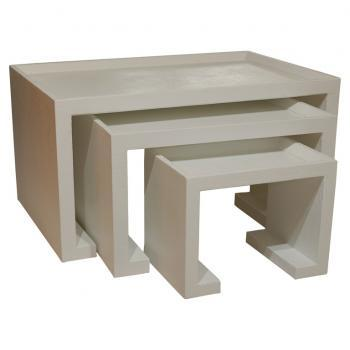 Greek Key Nesting Tables, Pieces
