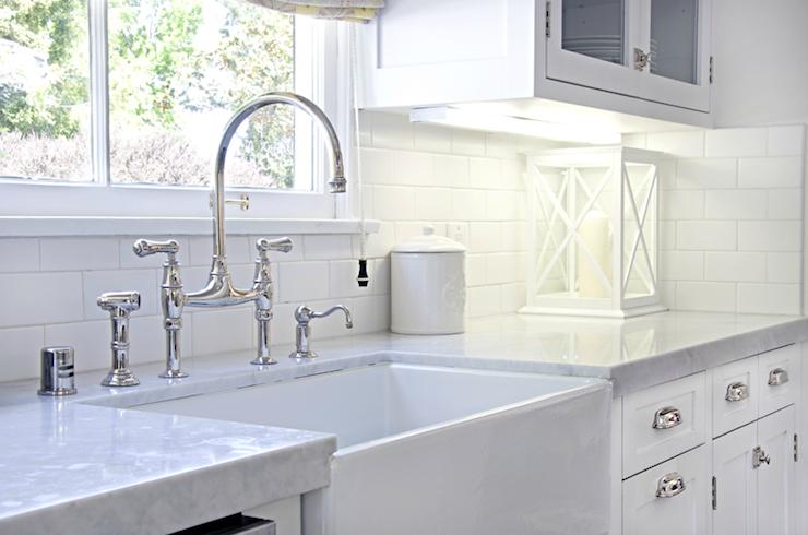 farmhouse sink transitional kitchen titan and co