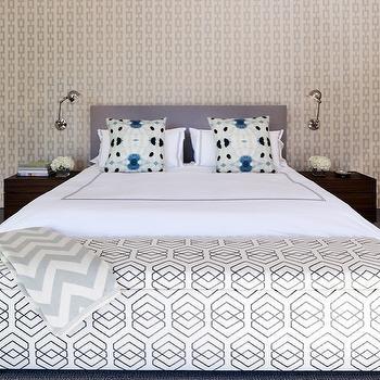 Chain Link Wallpaper, Contemporary, bedroom, Haus Interior