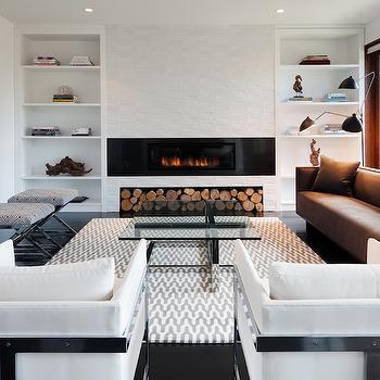 Gray Chevron Rug, Modern, living room, Haus Interior