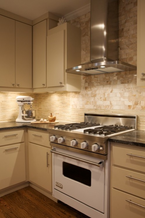 Tile Inlay Kitchen Backsplash