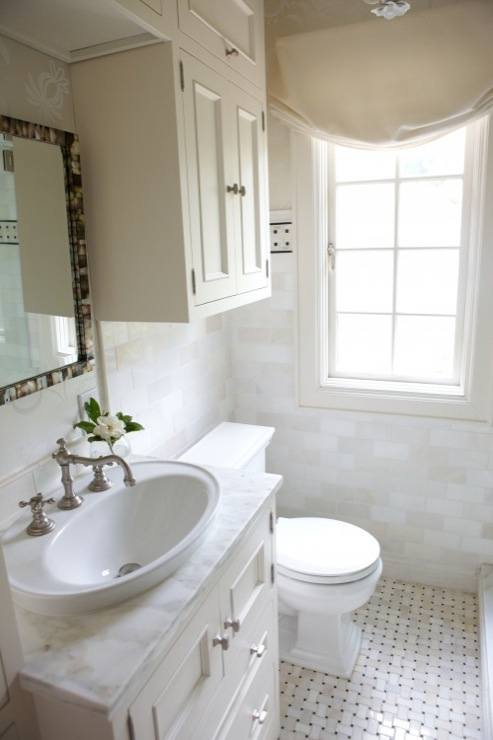 Cabinets Over Toilet Transitional Bathroom Heather